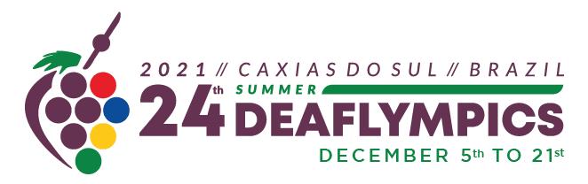 Logo Letnej Deaflympiády 2021